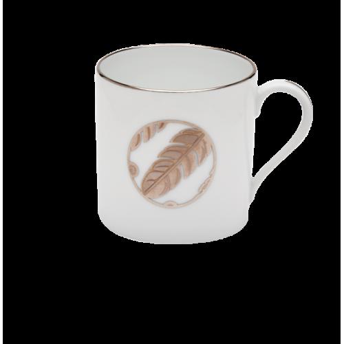 Mini Mug Plumes Platine